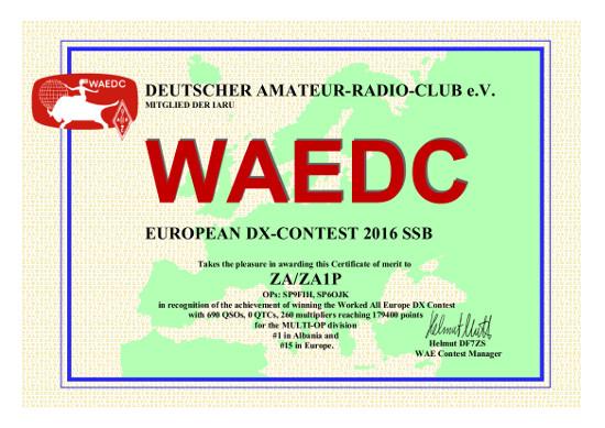 WAE Contest ZA/ZA1P